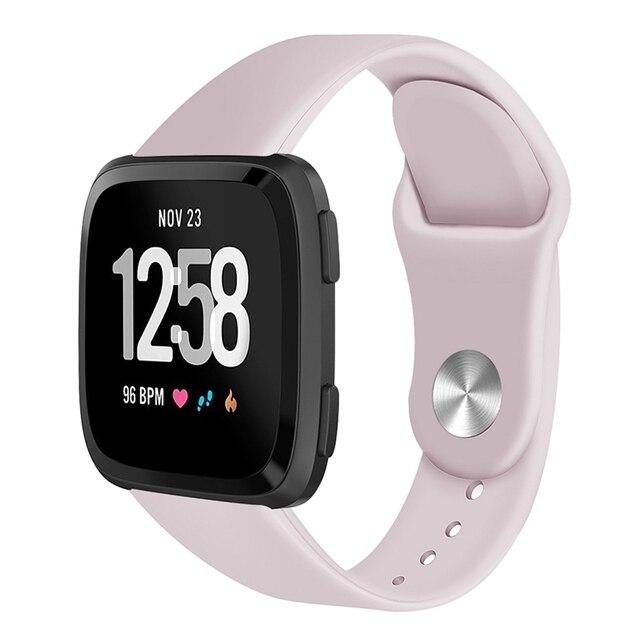 Silicone Smartwatch Wrist Band Bracelet For Fitbit Versa Strap Reverse Watch Buckle Replacement for Fitbit Versa Lite strap 1