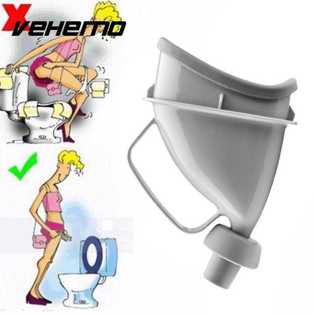 Portable Mobile Urinal Travel Funnel Toilet Car Handle Urine Bottle Pee CS