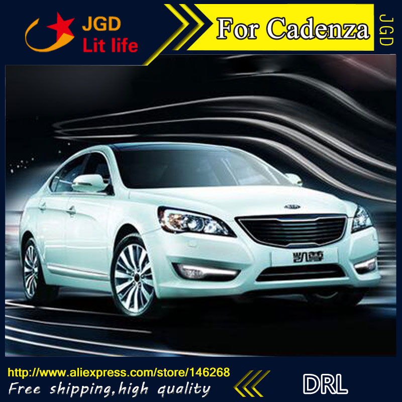 Free shipping ! 12V 6000k LED DRL Daytime running light for Hyundai Cadenza 2011 2012 fog lamp frame Fog light