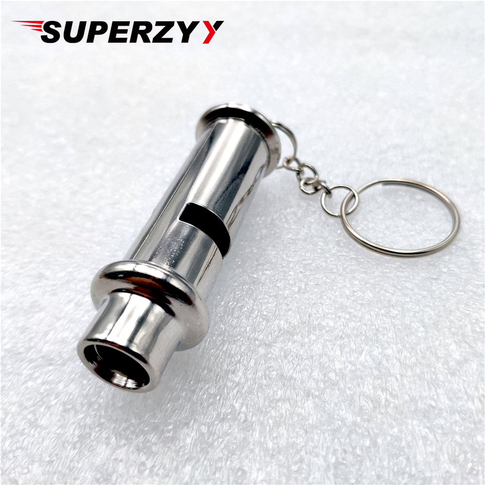 Outdoor Survival Whistle Stainless Steel High-frequency High Decibel Whistle Lifesaving Metal Whistle With Gift Plastic Bag