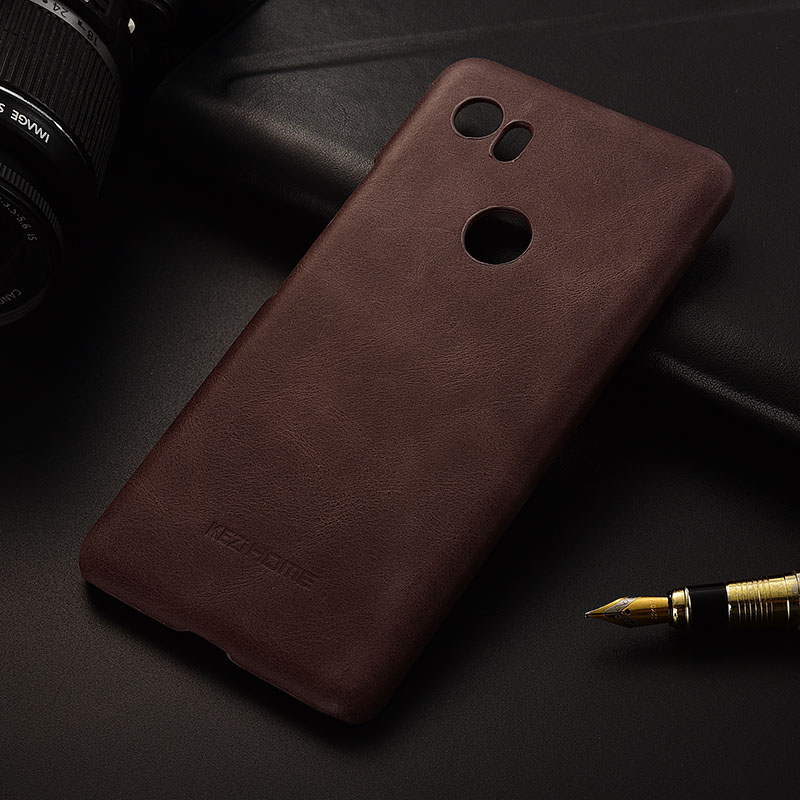 Case For Google Pixel 2 XL Frosted Genuine Leather Hard Back Cover For Pixel 2 XL 6.0 Phone Protector Cases Coque