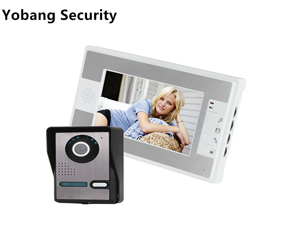 Yobang Security 7 inch IR Camera Doorbell Kit For Apartment Security Home Improvement Visual Door Ring Video Intercom System yobang security 9 inch lcd home security video record door phone intercom system doorbell video monitor for apartment villa