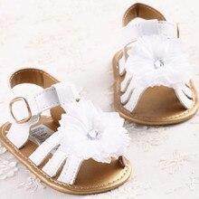 Gilrs квартира сабо сандалии малыша мягкой младенческой лето детская девушки белый