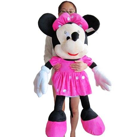 Belle peluche mickey souris jouet poupée grand cadeau d'anniversaire la fille minny environ 100 cm