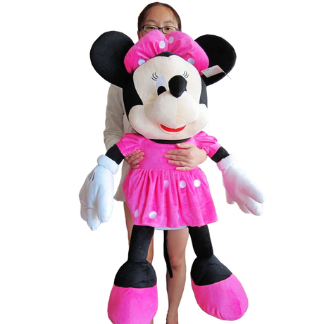 lovely plush toy mickey mouse toy doll large birthday gift  the girl minny about  100cm the huge lovely hippo toy plush doll cartoon hippo doll gift toy about 160cm pink