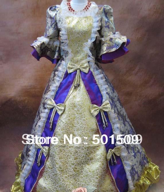 Středověká renesanční šaty královna princezna šaty upír kostým viktoriánský gotický / Marie Antoinette / občanská válka / koloniální Belle míč