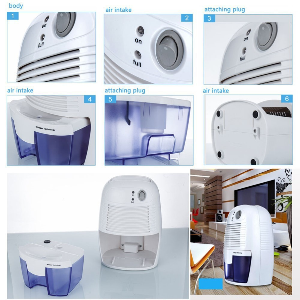 Home Mini Dehumidifier 26w Electric Quiet Air Dryer 100v 240v Compatible For Bathroom In Dehumidifiers From Liances On