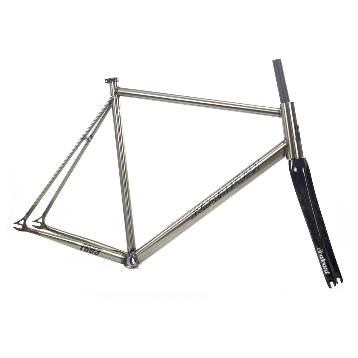 Seaboard Tsunami Cromolly Fixed Gear Frameset Frame Carbon Fork Custom Chrome Cr-mo Steel Fixie Track Bike Frameset Super