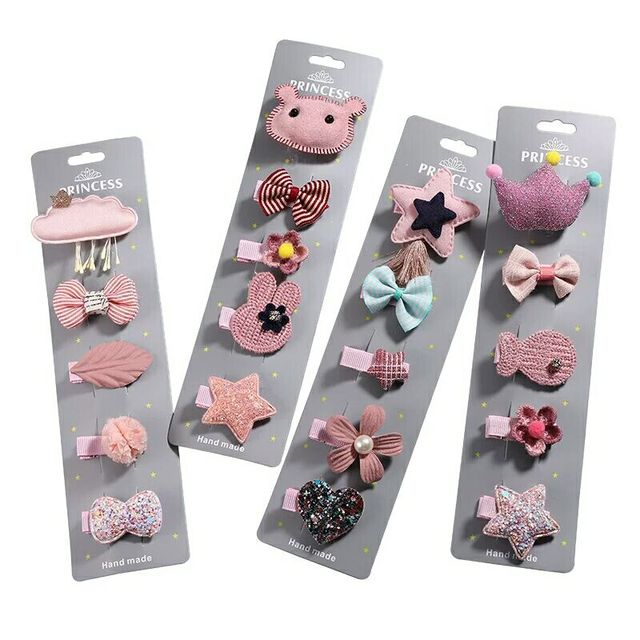 5pcs New Cute Flower Princess Hairpin Kids Girls Hair Clips Bows Barrette Accessories for Children Hairclip Headdress Hairgrips 1
