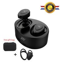 SAGO True Wireless Bluetooth Earbud Dual BT4 1 Earphone With Built In Mic And Charging Case