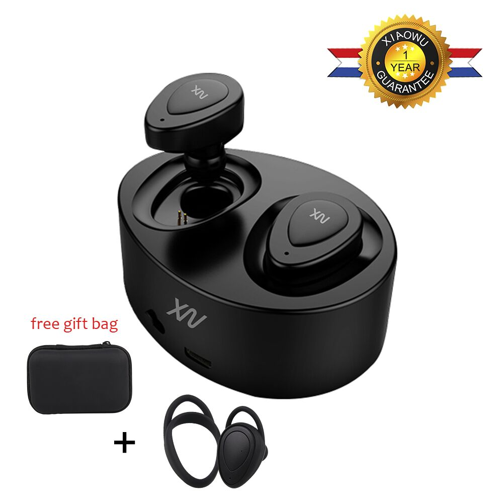 XiaoWu Wireless earbuds In Earphones Stereo Hands free with Microphone and Charging Box for iPhone x