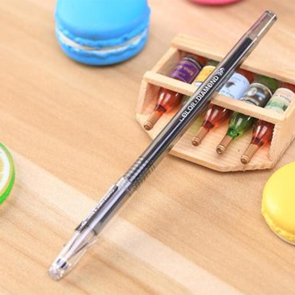 0.5mm Pen Point Colorful Gel Pens Multi Color Plastic Gel Pen School Stationery Supplies Gifts