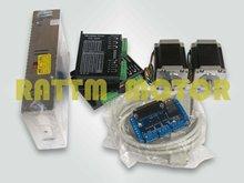 2 оси С ЧПУ контроллер комплект 2 NEMA23 270 oz в шаговый двигатель и водитель с 256 microstep и 4.5A ток