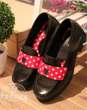 Japanese Lolita Shoes Sneakers Lovely Princess Cute Black Student Cos Cosplay Nude Bandage Pink bow Shoes O