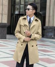 Christmas Korean plus size 6XL 7XL 9XL 8XL blue trench coat men Spring long gentleman brand beige double-breasted jacket