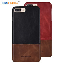 ФОТО case for iphone 7 plus kezihome luxury hit color genuine leather hard back cover capa for iphone 8 plus phone cases