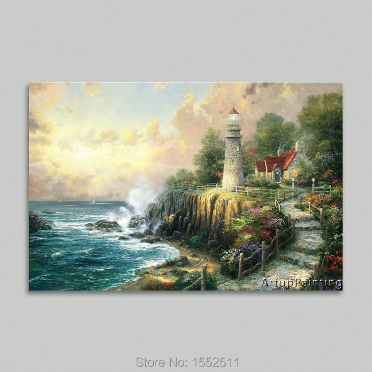 Thomas kinkade oil paintings the light of peace art decor - Home interiors thomas kinkade prints ...