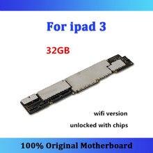 Оригинальная материнская плата для ipad 3, версия Wifi, 32 ГБ, разблокированная с чипами, полностью протестированная материнская плата, хорошая работа