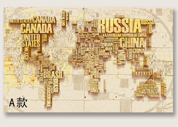 US $14.3 45% OFF|ShineHome 4 Style 3D Custom Russia Canada World Map  Wallpaper Mural Rolls for Office Hotel Restaurant Bar KTV Living Room-in ...