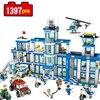 1397pcs City Police Series Police Station Set Compatible With Legoe Assembled DIY Model Kids Toys Building