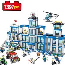 1397pcs City Police Series Police Station Set Assembled DIY Model Kids font b Toys b font