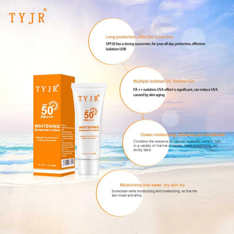 Лица, тела солнцезащитный крем отбеливающий крем для загара кожи УФ-защитный крем Anti-Aging антиоксидант масло-контроль SPF 50 солнцезащитный крем 40mlTSLM2
