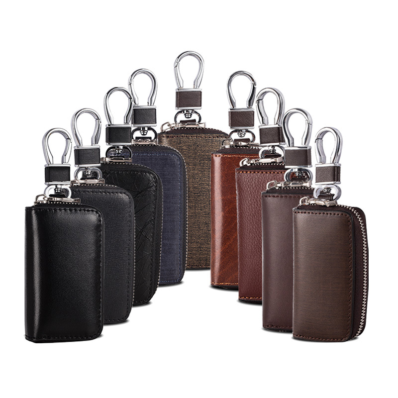 Meet Reach Fashionable gifts Keys holder Organizer Manager Split leather Buckle key case Bag car keychain Protector Hot Sale