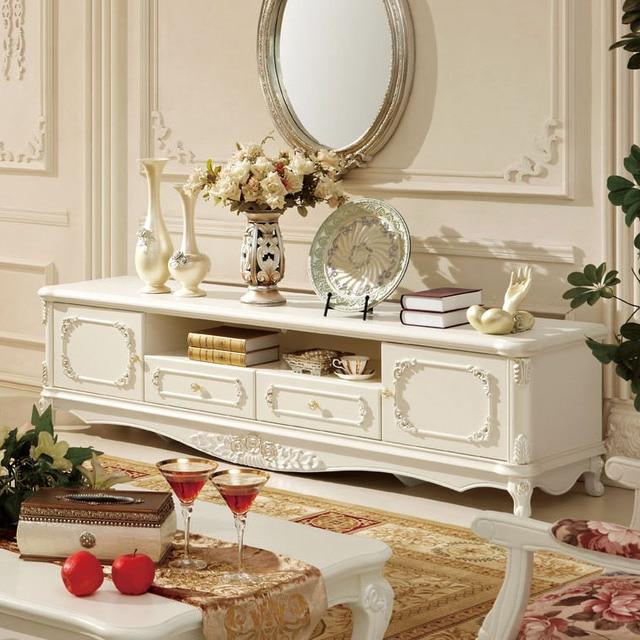 Style français meubles de salon bois de fashion tv armoire blanc ...