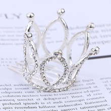 1PC Party Prom Delicate Cute Girls Fashion Hair Combs Mini Crowns For Kids Gift Crystal Crown Hairpin Accesories