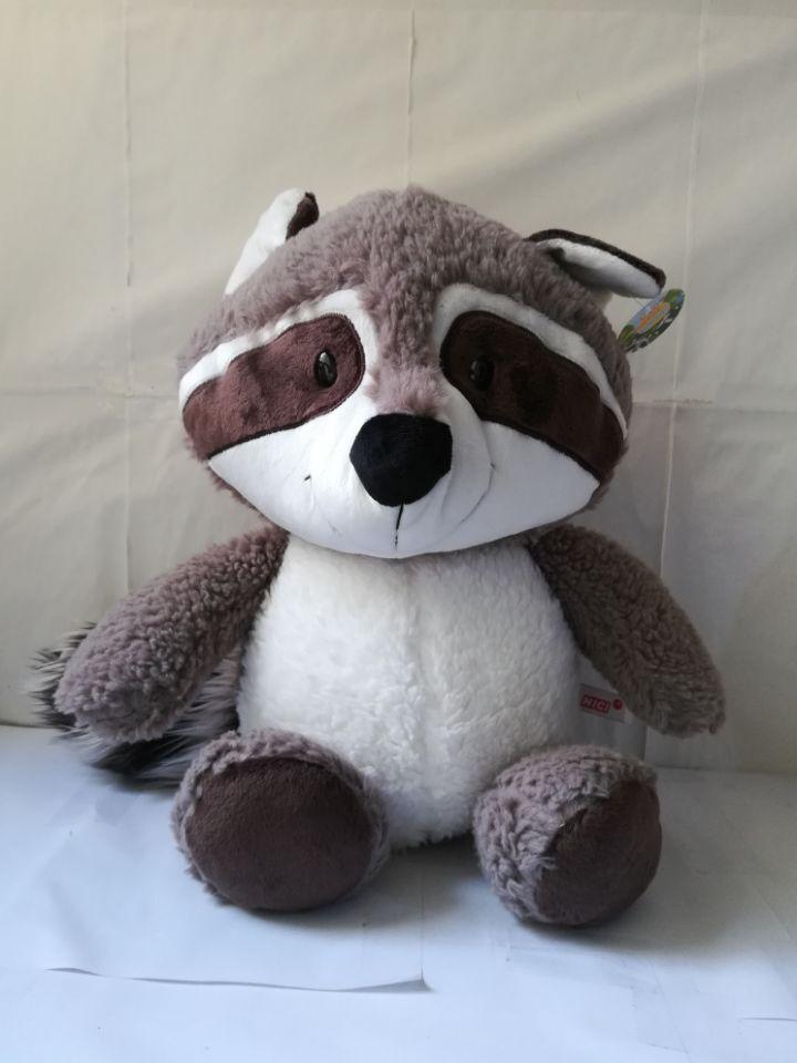 Nouveau style grand 50 cm gris raton laveur en peluche jouet mignon dessin animé raton laveur doux poupée jeter oreiller jouet cadeau d'anniversaire b0051