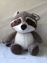 new style large 50cm gray raccoon plush toy cute cartoon raccoon soft doll throw pillow toy birthday gift  b0051