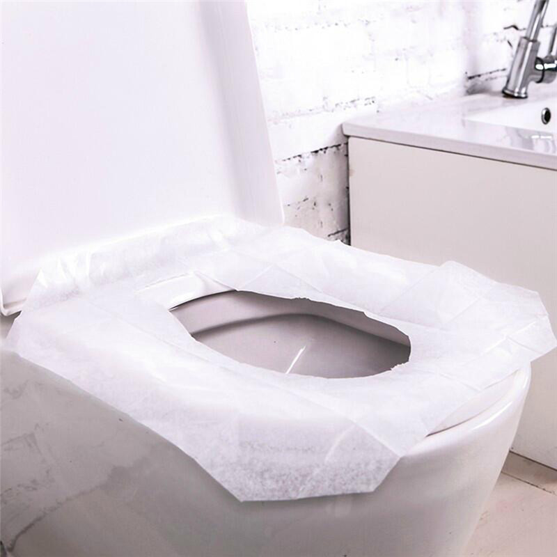 10Pcs/bag 100% safety toilet paper pad Travel Camping disposable toilet seat cover mat bathroom accessories set