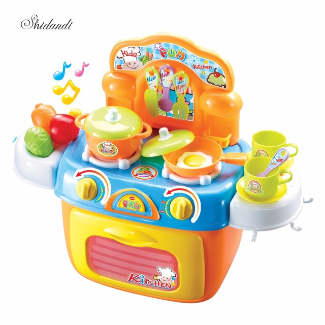 Children House Pretend Play Assembly Toys Kitchen Utensils And ...