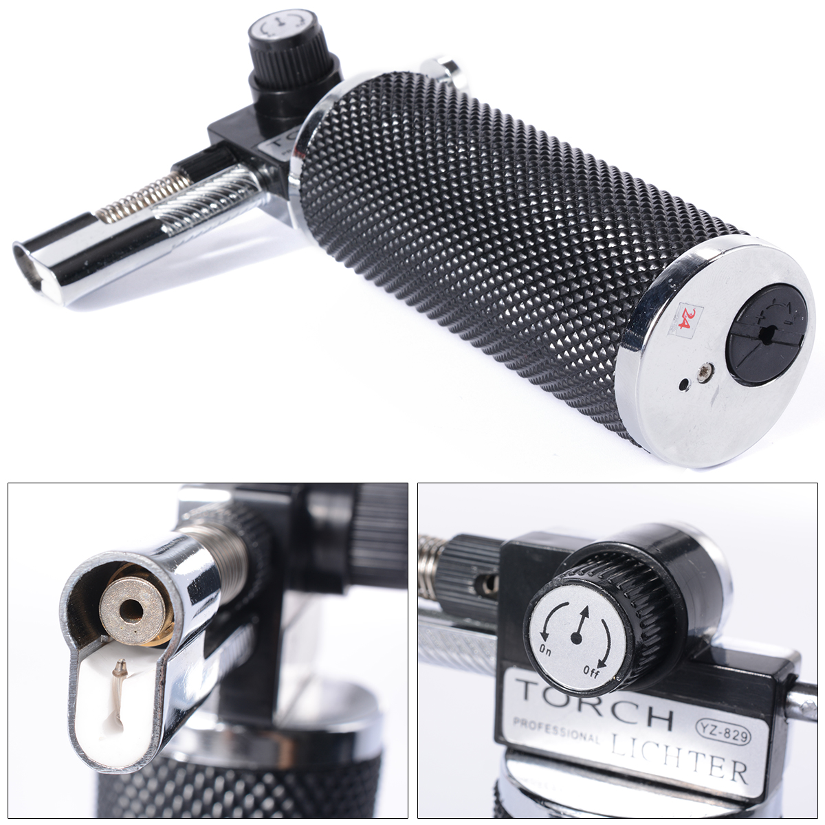 Metal Gun Hot Butane Gas Welding Torches kitchen Tool Gas lighter churrasco corte Repeatable Inflatable Gadget BI016+