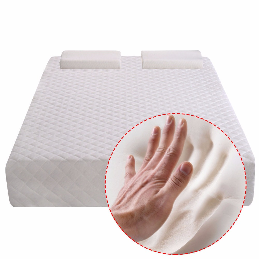 Goplus 12 Inch 30cm Memory Foam Mattress Twin/Queen Size <font><b>Sofa</b></font> Bed Thick Warm Bedroom Mattress with Contoured Pillows HT0952