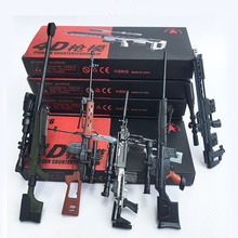 5Pcs/set Coated Gun Model Sniper Rifle SVD,PSG-1,MK14,DSR-1,TAC-50 1:6 Assembly Kits Weapon For 12