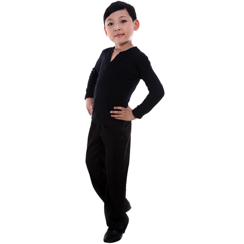 Ballet Tights Men Lightweight Boys Gymnastic Dress Long Sleeve Children Ice Skating Competition Dresses Tops Pants Black/White
