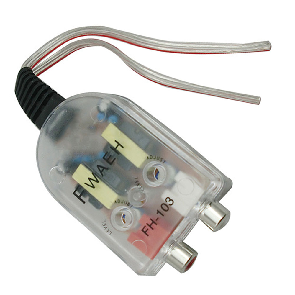 Converter Speaker Audio Low-Amplifier Car-Stereo 12V RCA Line Impedance High-To
