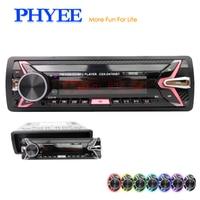 Detachable Car Radio Bluetooth Autoradio USB 1 Din Stereo Audio MP3 SD FM Tuner High Power Head Unit PHYEE 4785BT