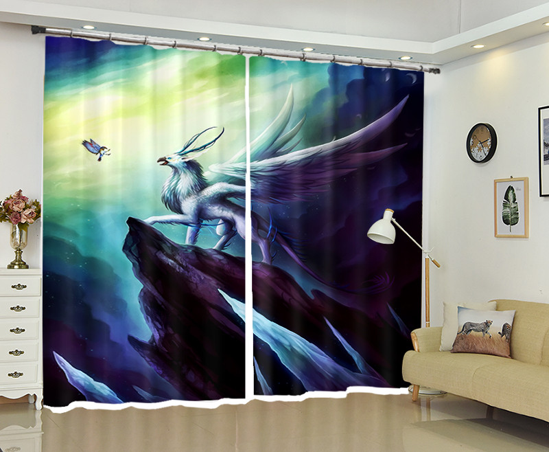 Flying dragon Window 3D Curtains Drapes For Bedroom Living room Office Hotel Home Decorative Wall Tapestry Custom SizeFlying dragon Window 3D Curtains Drapes For Bedroom Living room Office Hotel Home Decorative Wall Tapestry Custom Size