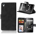 Phone case de couro para o sony xperia z5 premium/z5 plus capa carteira para sony xperia z5 plus casos com slot para cartão case