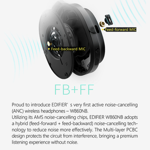 Image 5 - EDIFIER W860NB Bluetooth Headphones ANC Touch control Support NFC pairing and aptX audio decoding Smart Touch wireless earphone