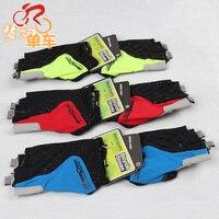 Semi Finger Short Gloves Mountain Bike Breathable Slip Resistant Silica Gel Summer Ride Gloves