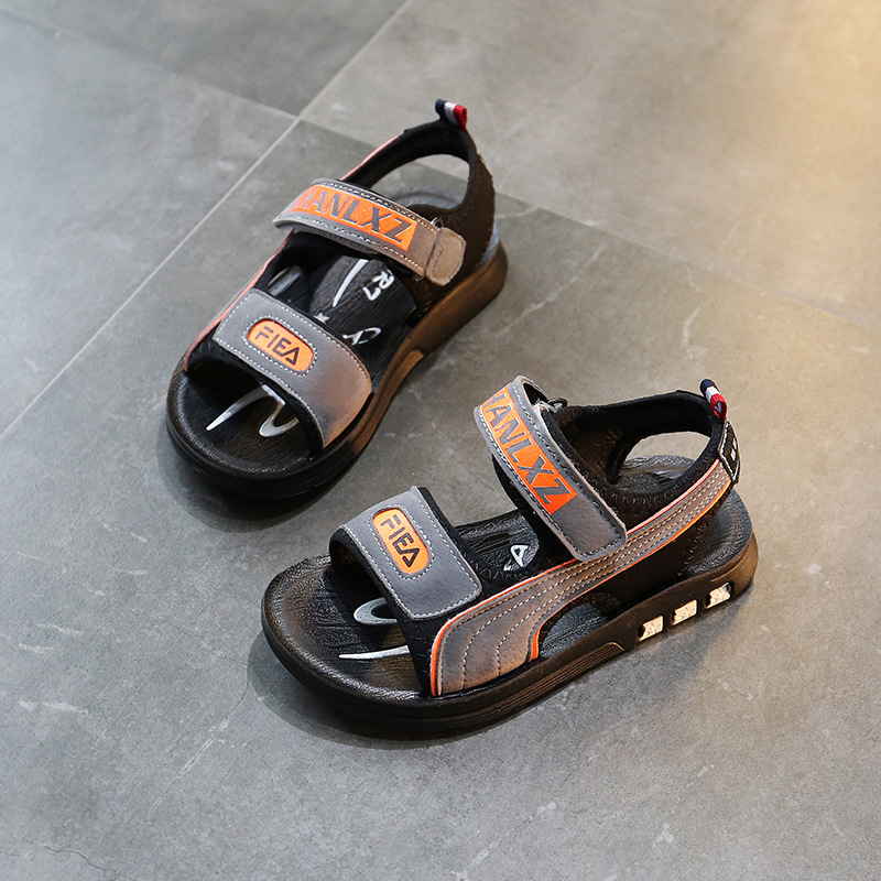 Children Sandals For Boys Beach kids Shoes Open Toe Soft Leather Kids Sandals Summer Casual cut-outs sandals Breathable Shoes