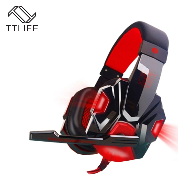 TTLIFE Wired Gaming Headphones PC780 3D Surround Sound Stereo Bass PC Gamer Headset With Mic for Computer PS4 Internet Bar