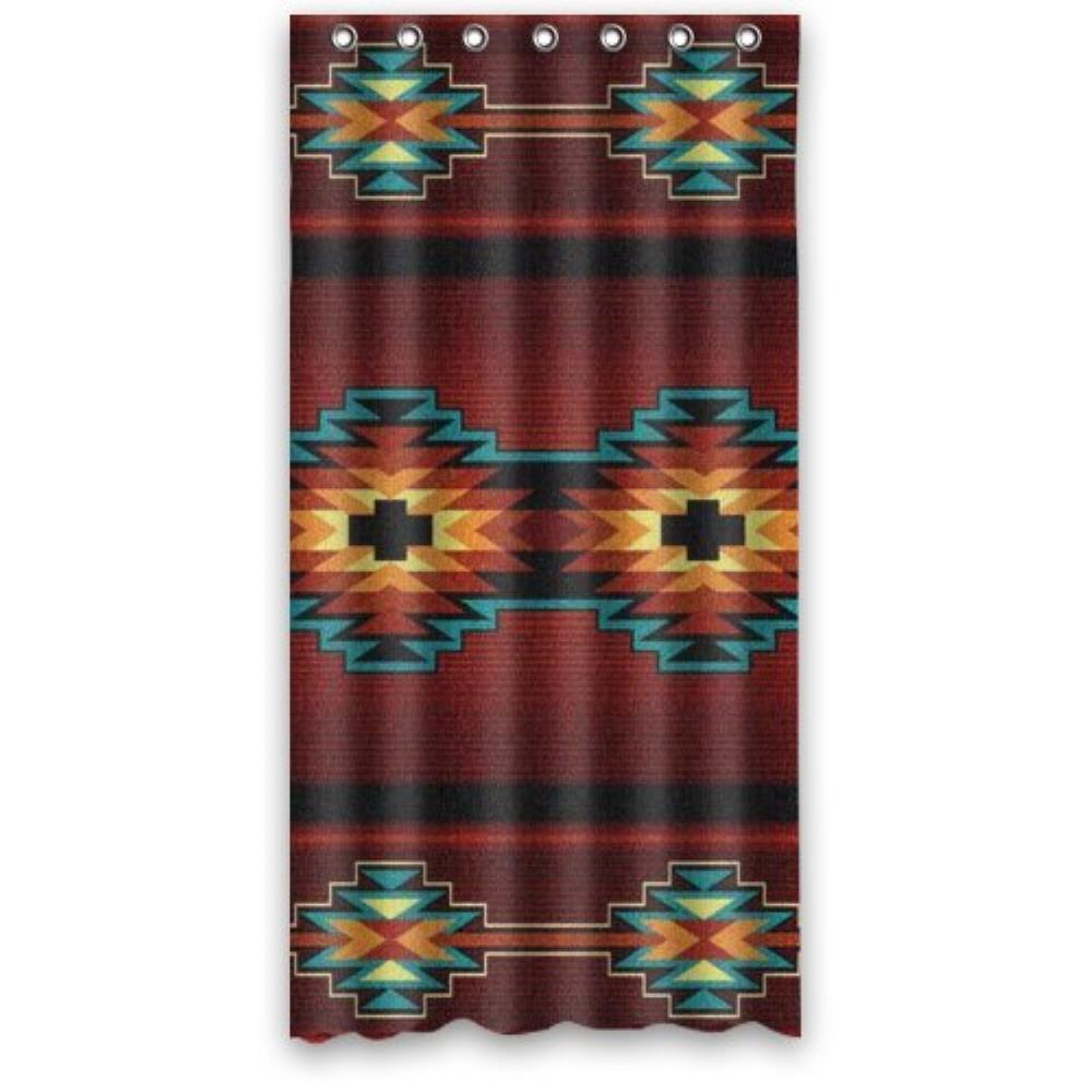 36 w x72 h inch waterproof bathroom southwest native american custom shower curtain bathroom. Black Bedroom Furniture Sets. Home Design Ideas
