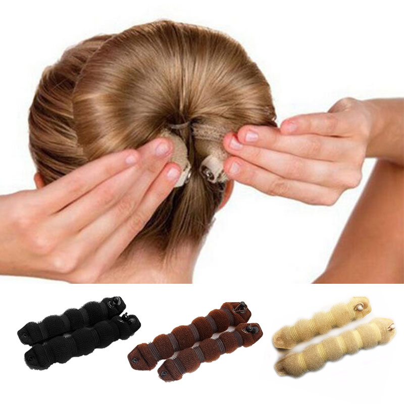 1 Set Women Girl Magic Style Hair Styling Tools Buns Braiders Curling Headwear Hair Rope Hair Band Accessories Hot Sale halloween party zombie skull skeleton hand bone claw hairpin punk hair clip for women girl hair accessories headwear 1 pcs