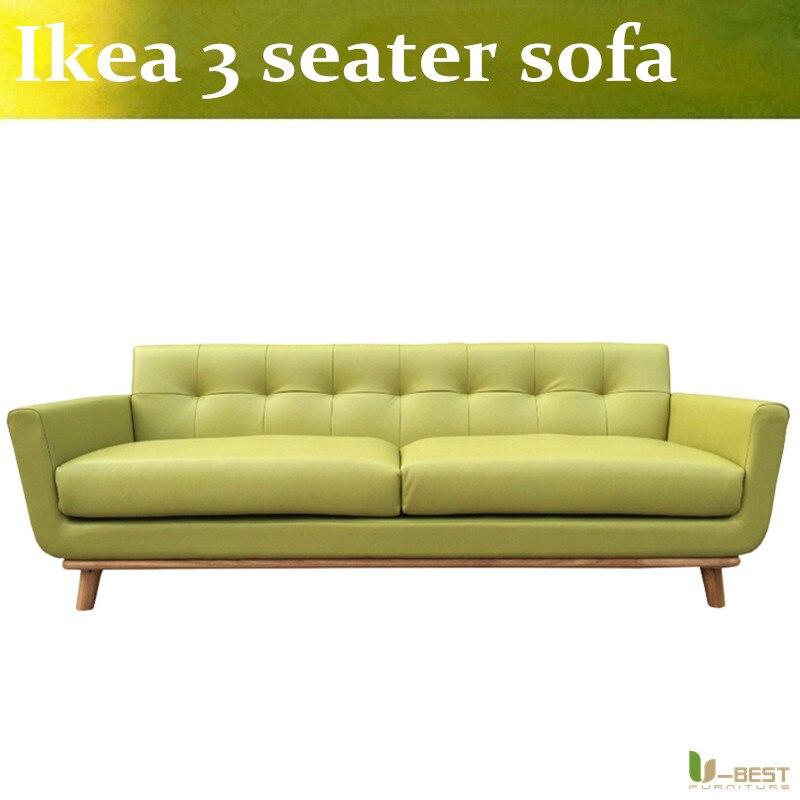 U BEST 3 Seater PU Leather Sofa Nordic Art I Kea Sofa Covers Elegant Modern