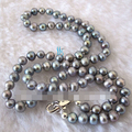 "17"" 7~8mm Gray Freshwater Pearl Necklace"