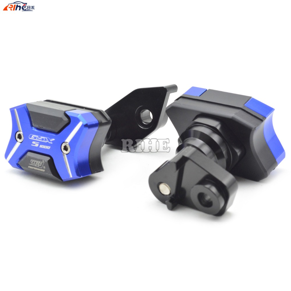 Motorcycle cnc Left and Right Frame Slider Anti Crash Pads Engine Case Sliders Protector For Suzuki GSX-S1000 BK1300 2015-2016 scoyco motorcycle riding knee protector extreme sports knee pads bycle cycling bike racing tactal skate protective ear